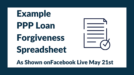 Example PPP Loan Forgiveness Spreadsheet