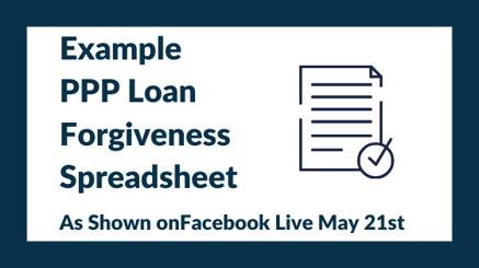 Example PPP Loan Forgiveness Spreadsheet