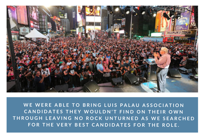 Luis Palau in Times Square