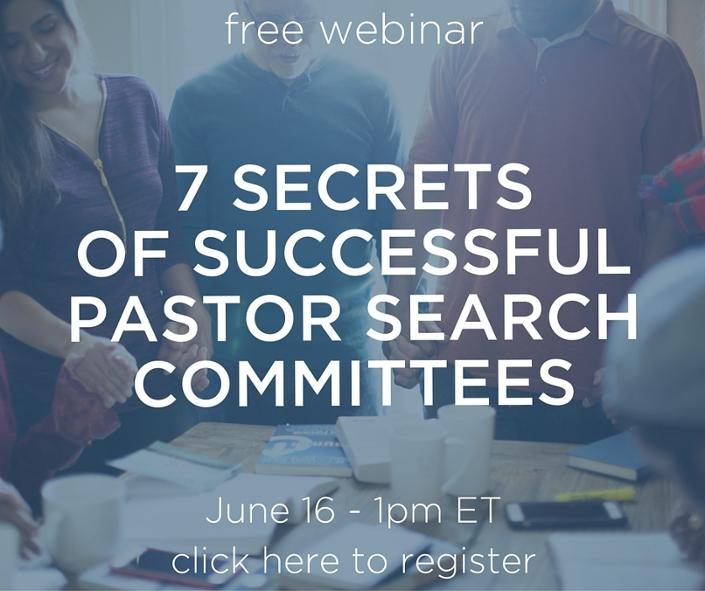 Pastor search committee webinar