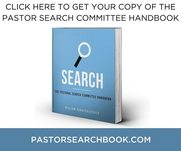 Search Pastor Search Committee Handbook Preorder