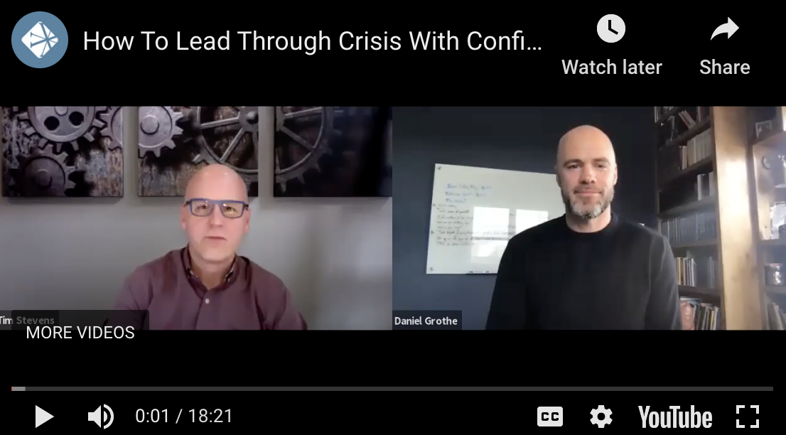 Lead Through Crisis | Tim and Daniel Growthe