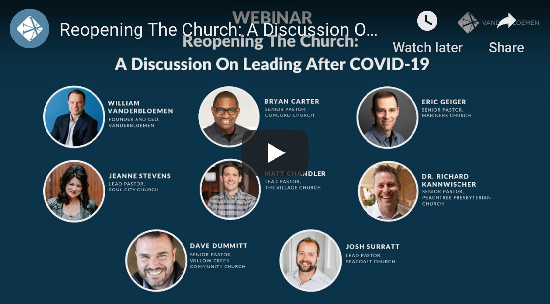 Reopening the Church: A Discussion on Leading After COVID-19