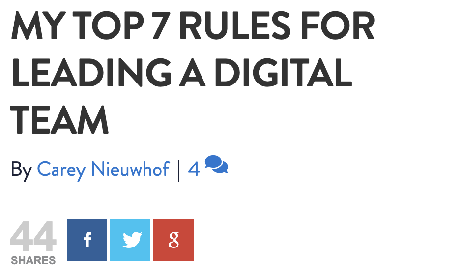 Top 7 Rules For Leading A Digital Team